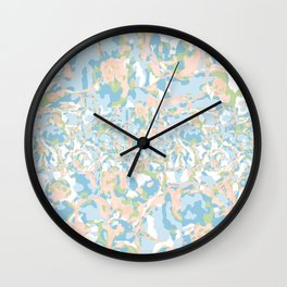 Light Blue Abstract Wall Clock
