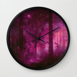 Into the purpur light Wall Clock
