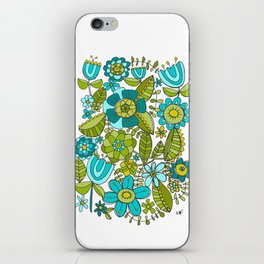 Botanical Doodles iPhone Skin