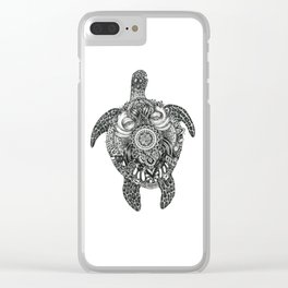 Ink Turtle Clear iPhone Case