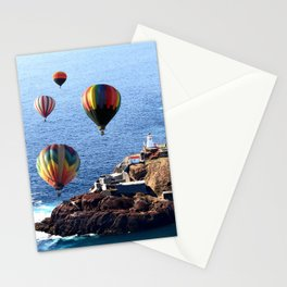 Flying Colorful Hot air Balloons over Newfoundland Stationery Cards