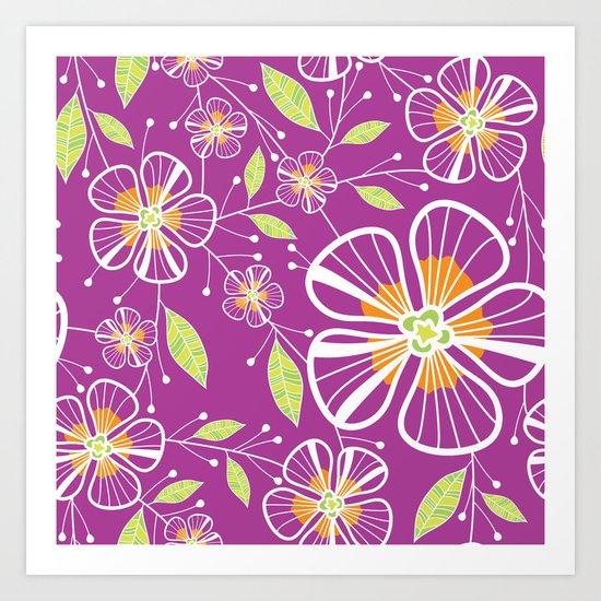 A Purple Bouquet Art Print