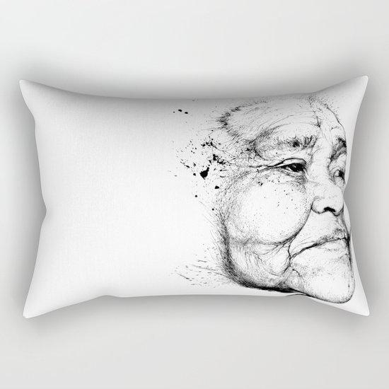 """Gabriela"" of the Kaweskar People B+W Rectangular Pillow"