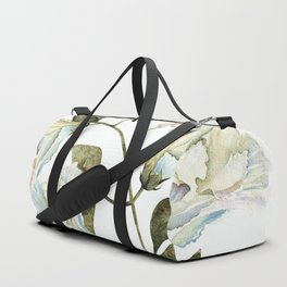 Spring White Flowers Duffle Bag