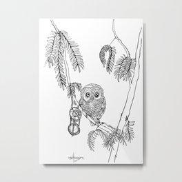 Owl Hour Metal Print