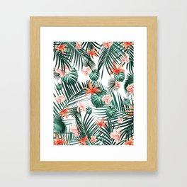 Tropical Flowers & Leaves Paradise #2 #tropical #decor #art #society6 Framed Art Print