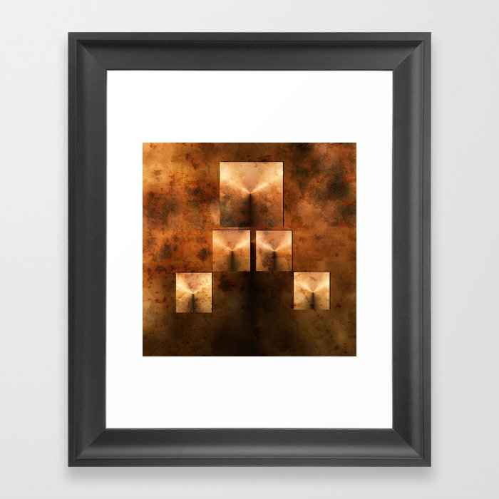 Rusted Pyramids Framed Art Print