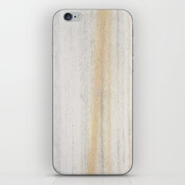 Rustic gray gold yellow vintage white marble iPhone Skin
