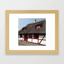 Farm house Denmark Framed Art Print