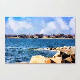 New England Shoreline - Painterly Canvas Print