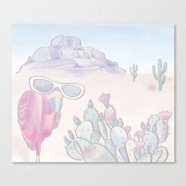Lost Cuban in Desert Canvas Print