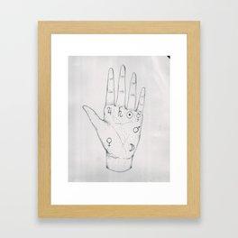 inner palm outer space Framed Art Print