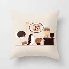 The No-Fly List Throw Pillow