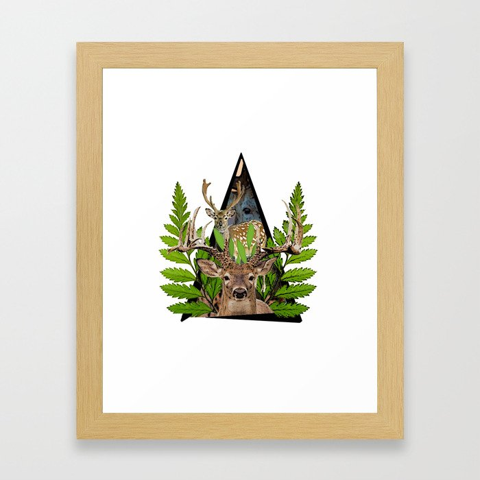 Jungle Animal Deer ArtWork Framed Art Print
