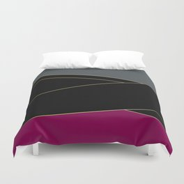 Angelica . Burgundy , gray , black Duvet Cover