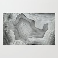 mineral Area & Throw Rugs featuring MINERAL MONOCHROME by Catspaws
