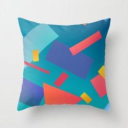 80's inspired art Throw Pillow