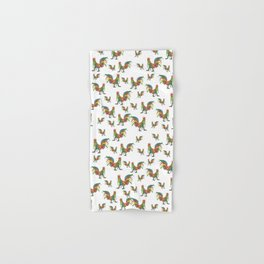 Punky Rooster on White background Hand & Bath Towel