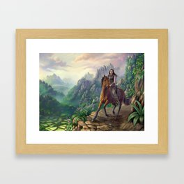 Scouting the Pass Framed Art Print