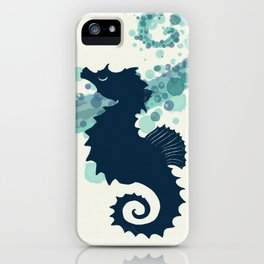 """Seahorse Silhouette"" ` digital illustration by Amber Marine, (Copyright 2015) iPhone Case"