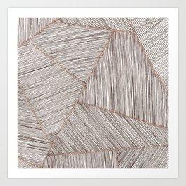 Blushed Lines Art Print