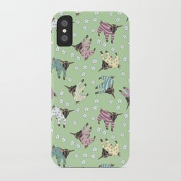 Pajama'd Baby Goats - Green iPhone Case