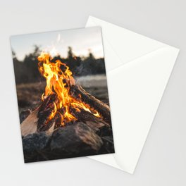 Campfires along the Coast Stationery Cards