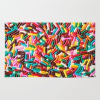 sprinkles Area & Throw Rugs featuring Extra Sprinkles  by Laura Ruth