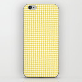 Yellow Houndstooth Pattern iPhone Skin