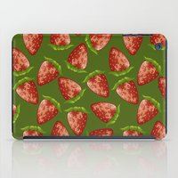 strawberry iPad Cases featuring Strawberry by Julia Badeeva