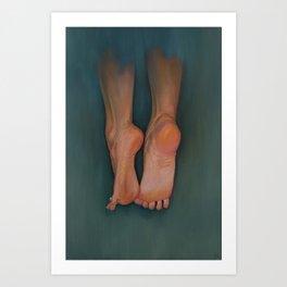 Flying Feet Art Print