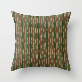 Vintage woodblock print of Japanese textile from Shima-Shima (1904) by Furuya Korin 108 Throw Pillow