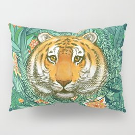 Tiger Tangle in Color Pillow Sham