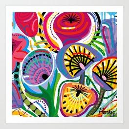 Flower Trip (Square) Art Print