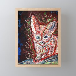Fennec the Abstract Framed Mini Art Print