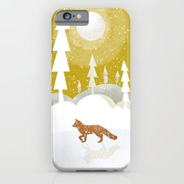 Winter night in the north iPhone Case