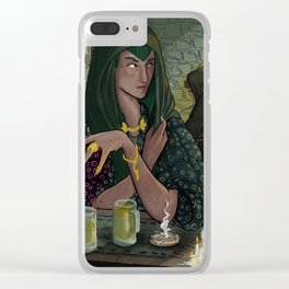 Witches Tavern Clear iPhone Case