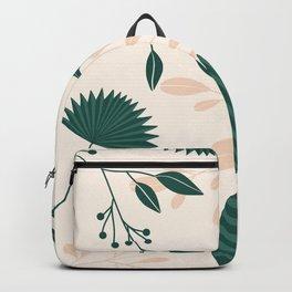 Green Terracotta Botanical Illustration Backpack
