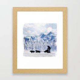 Dogsledding Framed Art Print