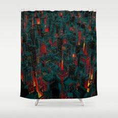 Night city glow cartoon Shower Curtain