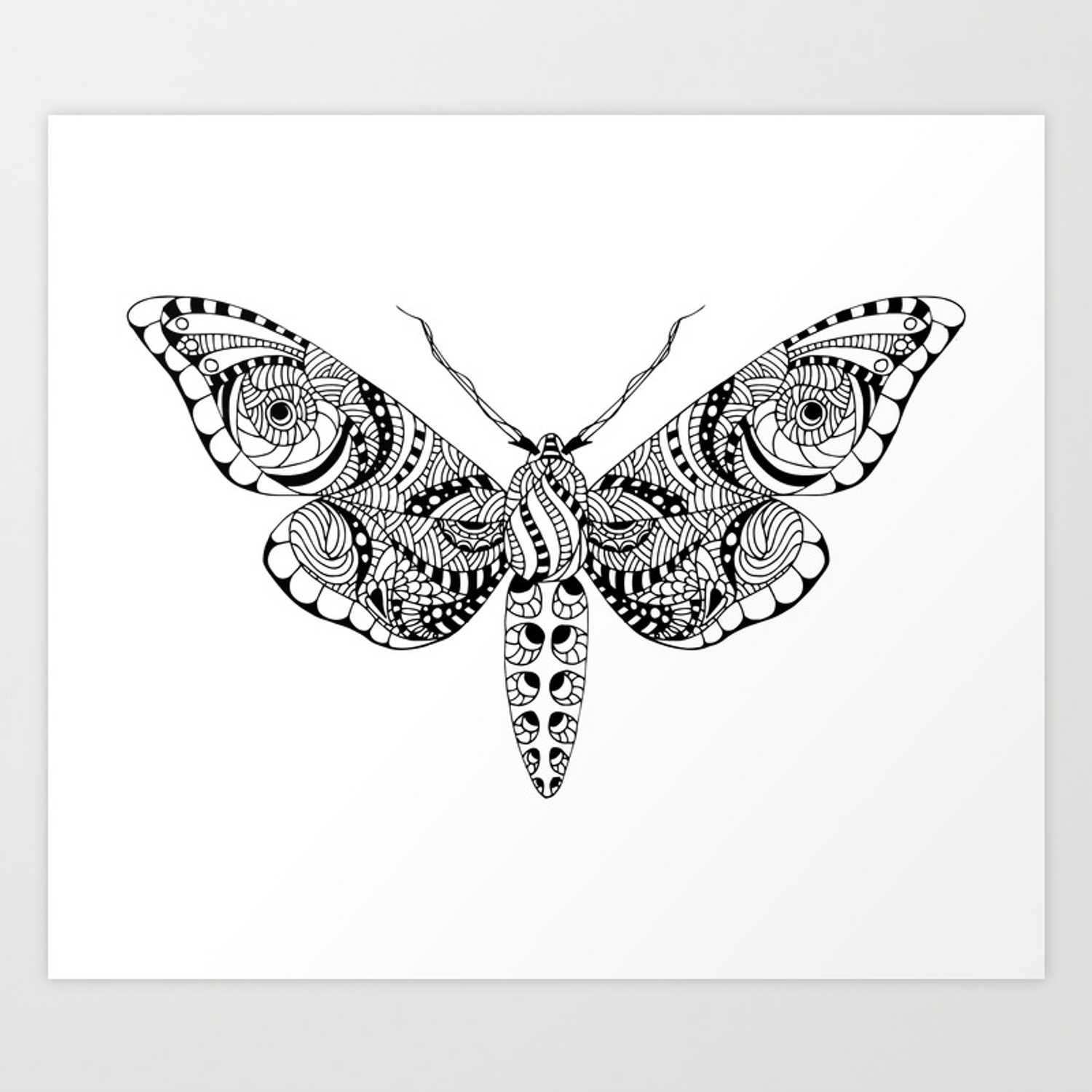 Black Butterfly Art Print By Artcolours Society6