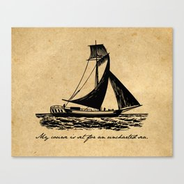 Divine Comedy - Dante Alighieri - Uncharted Sea Canvas Print