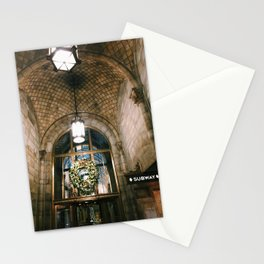 nyc grand central christmas arches photograph Stationery Cards