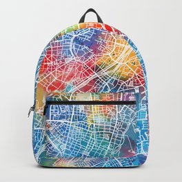 munich map watercolor Backpack