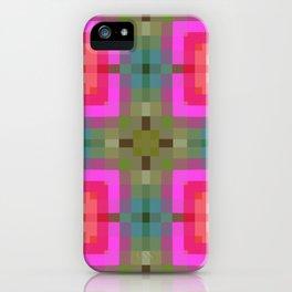 Pink Gold Geometric iPhone Case