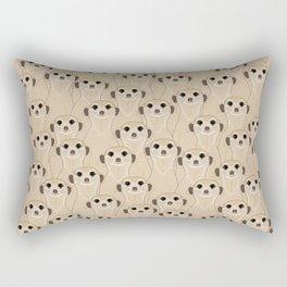 Meerkats Kalahari Desert Rectangular Pillow