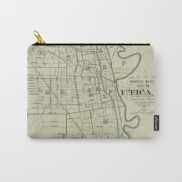 Vintage Map of Utica New York (1883) Carry-All Pouch