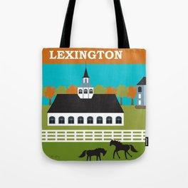 Lexington, Kentucky - Skyline Illustration by Loose Petals Tote Bag