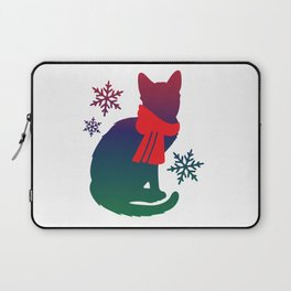 Winter Cat Laptop Sleeve