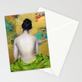William Merritt Chase - Back Of A Nude - Digital Remastered Edition Stationery Cards